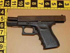 This .40 Col. Glock 23 was recovered by Boston police after it was involved in a homicide in Roxbury that killed Jerome Wells in 2007.