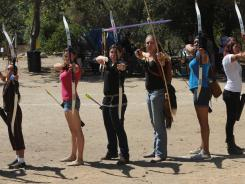 Archery fans attend classes at Lower Arroyo Seco Park in Pasadena, Calif.