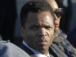 Rep. Jesse Jackson, Jr., D-Ill., at the 2011 dedication of the Martin Luther King Jr. Memorial in Washington.