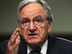 U.S. Sen. Tom Harkin (D-IA) testifies during a hearing before the Senate Foreign Relations Committee in Washington, D.C., earlier this month.