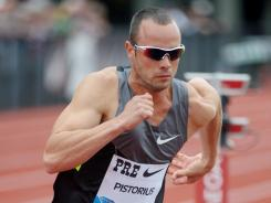 Pistorius: The South African is first amputee at the Olympics.