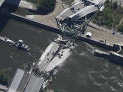 The eight-lane bridge was undergoing repair work when it broke apart during rush hour in August 2007, sending vehicles into the Mississippi River.