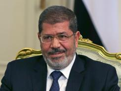 Egyptian President Mohamed Morsi meets with U.S. Secretary of Defense Leon Panetta Tuesday in Cairo.