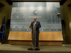 Spain's Interior Minister Jorge Fernandez Diaz speaks Thursday during a news conference in Madrid.