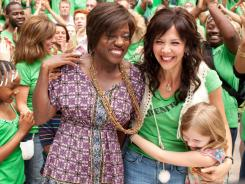 Viola Davis, Maggie Gyllenhaal and Emily Alyn Lind in a scene from the motion picture 'Won't Back Down.'