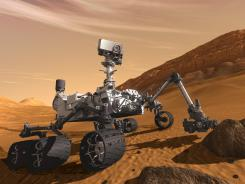 An artist's rendering of the Curiosity rover.