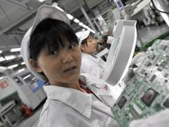 All iPads are made in China by Foxconn Technologies Group, which employs more than 1 million people in sprawling factories.