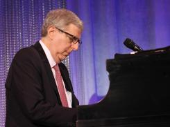 Composer Marvin Hamlisch performs at the Cedars-Sinai Board of Governors Gala in November.