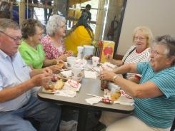 Showing appreciation: Customers at a Chick-fil-A in Shelby, N.C., on Aug. 1.