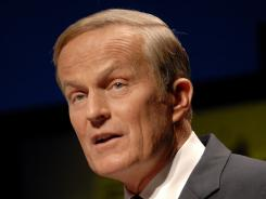 Rep. Todd Akin responds to questions during a debate at Washington University in St. Louis on Friday.