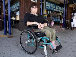 Denise McQuade, 64, of Brooklyn, N.Y., had trouble voting in 2010 because her polling place wasn't handicapped accessible. A judge ruled Wednesday that the city had to better accommodate disabled voters.