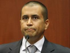 George Zimmerman takes the stand during his bond hearing for the shooting death of Trayvon Martin in Sanford, Fla., on April 20.