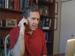 This photo taken from video provided Aug. 5 shows Sen. Mark Kirk, who is recovering from a stroke in January.