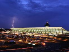 The terminal at Washington/Dulles International Airport is seen in this June 28, 2008 file photo.