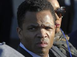 Rep. Jesse Jackson, Jr., D-Ill., during the 2011 dedication of the Martin Luther King Jr. Memorial in Washington. An aide says he will return from medical leave for depression soon.