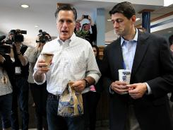 Mitt Romney and Paul Ryan campaign in Ryan's home state of Wisconsin in April.