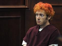 James Holmes appears in court in Centennial, Colo., on July 23.