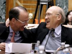 Erskine Bowles, left, and Alan Simpson are co-chairman of the president's fiscal commission.