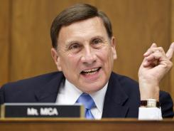 Rep. John Mica, R-Fla., speaks on Capitol Hill in Washington on April 17.