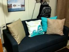 Shannon and Meghan Maloney warmed up their dorm room at the University of Michigan last fall with a beach theme.