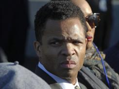 Rep. Jesse Jackson, Jr., D-Ill., is seen during the dedication of the Martin Luther King Jr. Memorial in Washington, D.C.