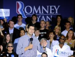 Ryan: The Republican vice presidential candidate campaigns in Las Vegas on Tuesday.