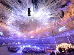 Closing Ceremony at Olympic Stadium in London on Aug. 12.
