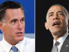 Mitt Romney and President Obama.