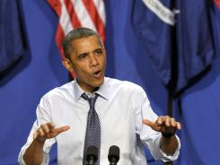 President Obama speaks at a fundraiser in New Orleans on July 25.