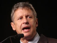 Libertarian Party presidential candidate Gary Johnson.