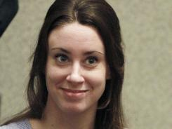 Casey Anthony smiles before the start of her sentencing hearing in Orlando, Fla., on July 7, 2011.