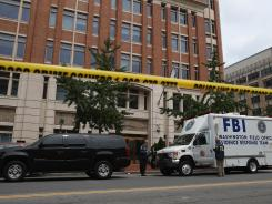 Family Research Council headquarters in Washington, D.C., after a shooting Aug. 15.
