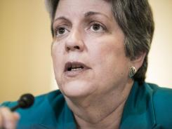 Homeland Security Secretary Janet Napolitano testifies before the House Homeland Security Committee on July 25 in Washington.