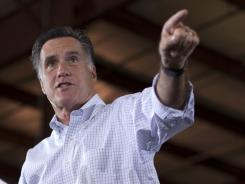 Republican presidential candidate Mitt Romney speaks during a campaign stop in Bettendorf, Iowa on Wednesday.
