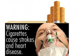The FDA's new warning labels depict the negative health effects of tobacco use.