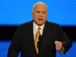 Arizona Sen. John McCain speaks at the 2008 Republican National Convention in St. Paul. McCain was the 2008 GOP presidential nominee.