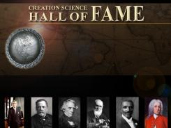 A screenshot of the Creation Science Hall of Fame website.