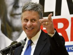 Johnson: The former New Mexico governor is seeking the Libertarian presidential nomination.