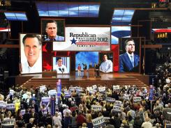 It's official: The Republican National Convention on Tuesday declares Mitt Romney is the GOP nominee for president. The former governor of Massachusetts will address the delegates tonight in Tampa.