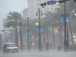 Canal Street in New Orleans on Wednesday morning.