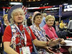 North Carolina delegate: Ann Sullivan at the Republican convention in Tampa on Tuesday.