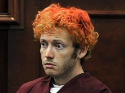 James Holmes appears in court at the Arapahoe County Justice Center in Centennial, Colo., on July 23.