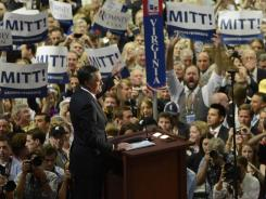 Mitt Romney accepts the GOP presidential nomination Thursday night.