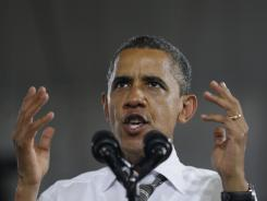 President Obama speaks at a campaign event Wednesday in Charlottesville, Va.