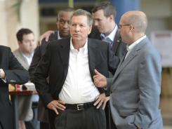 Ohio Gov. John Kasich at the Republican National Convention in Tampa.