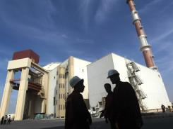 A picture taken on October 26, 2010, shows the reactor building at the Russian-built Bushehr nuclear power plant in southern Iran.