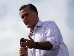Republican presidential candidate Mitt Romney speaks during an RNC Farewell Victory rally on Friday in Lakeland, Fla.