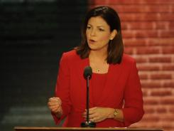 Sen. Kelly Ayotte of New Hampshire speaks early Tuesday night at the Republican National Convention. Proceedings that fall outside the narrow prime-time broadcast window can be viewed through website live streams.