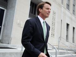 Former Democratic presidential candidate John Edwards leaves a federal courthouse in Greensboro, N.C., May 23, the fourth day of jury deliberations in his trial.