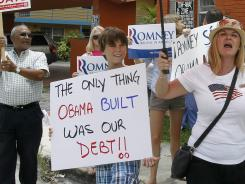 Anti-Obama protesters last month in Miami.